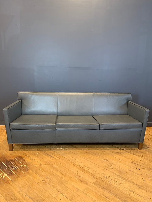Krefeld Sofa in Spinneybeck Leather by Mies van der Rohe, Knoll Studio