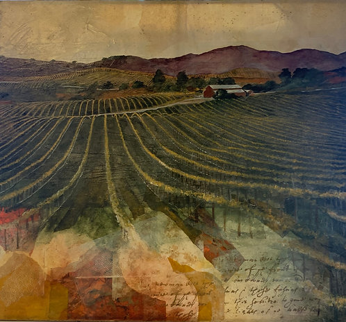 "Monumental 78"" x 78"" Napa Valley Oil Painting"