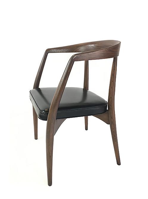 Vintage Danish Modern Arm Chair, Refinished