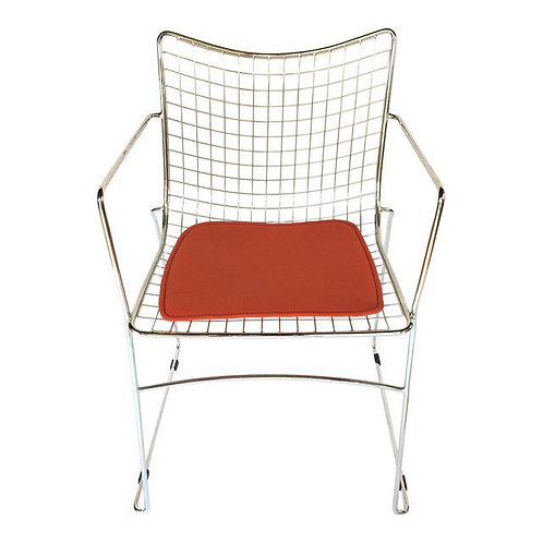 Bertoia Style Wire Arm Chair