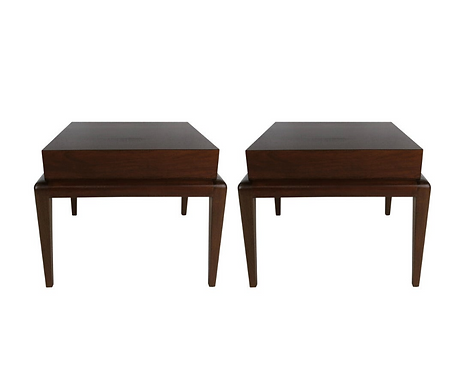 Pair of Mahogany Side Tables by Seth Ben-Ari
