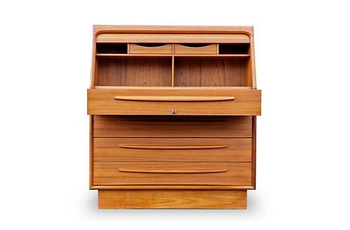 Bernhard Pedersen Teak Desk Secretary/Vanity/Dresser