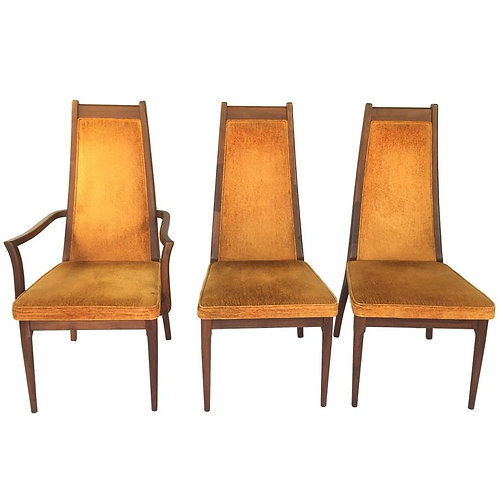 Brown Saltman Dining Chairs