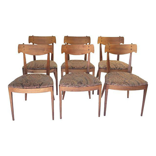 6 Kipp Stewart for Drexel Dining Chairs