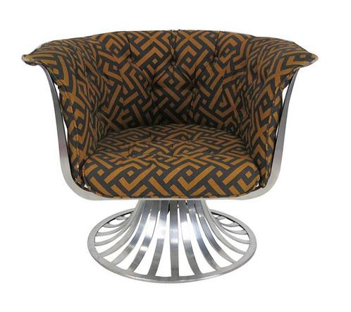 Woodard Aluminum Swivel Lounge Chair