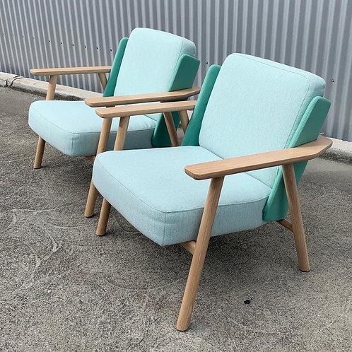 "Pair of Alki ""Lasai"" Lounge Chairs, France"