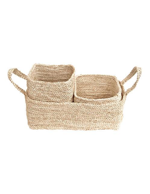 Trio of Jute Baskets – Natural
