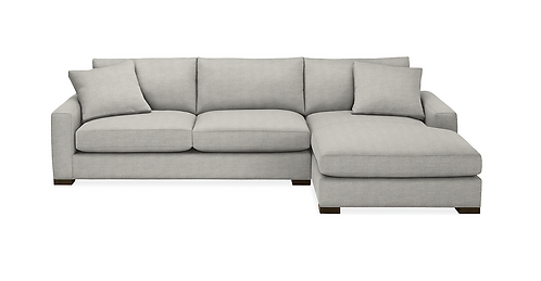 Room and Board Sectional Sofa Destin Grey-New Looking
