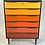 Thumbnail: Danish Teak Dresser with Ombre Drawers andBlack Case