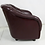 Thumbnail: Pair of Oxblood Leather Club Chairs by Ward Bennett for Brickel