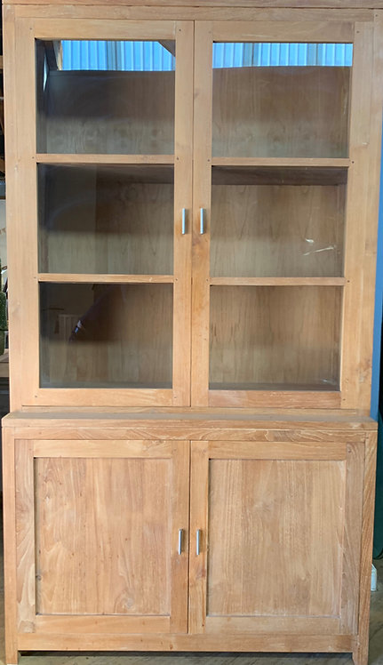 Solid Teak Display/Pantry Cabinet from Wooden Duck