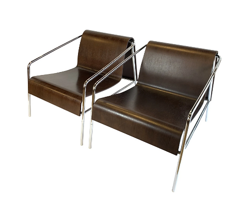 Modern Italian Bent Plywood Lounge Chairs- A Pair