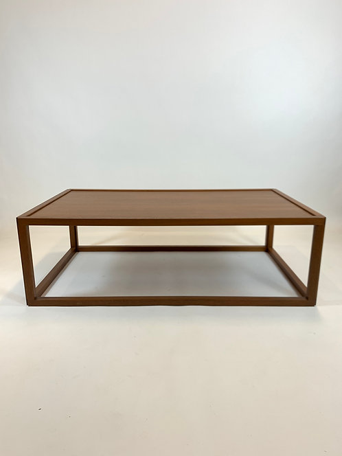 Danish Modern Teak Cocktail Table with Stunning Mitered Frame
