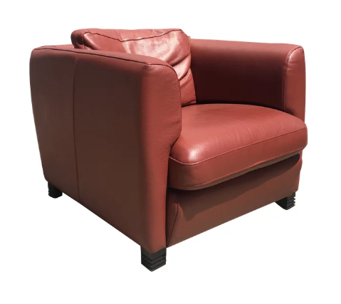 Roche Bobois Oxblood Lounge Chair