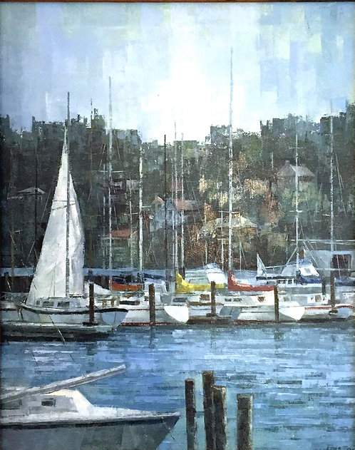 Yacht Club painting by Fong Fai
