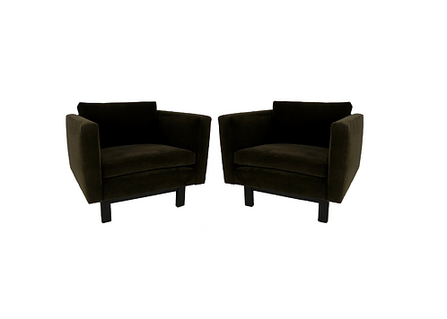 Pair of Harvey Probber Open-Frame Lounge Chairs