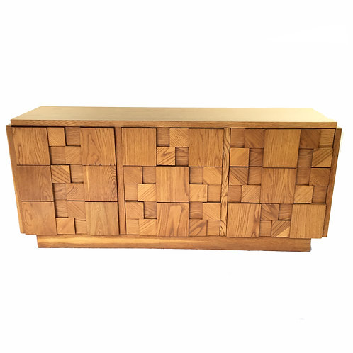 Brutalist Dresser with Patchwork Drawers