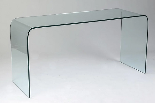 Glass Waterfall Console or Desk