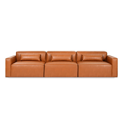 Mix Modular Sofa 3-Pc - Vegan Leather