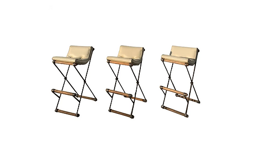 Set of Three Bar Stools by Cleo Baldon for Terra