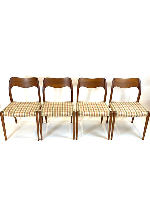JL Moller Dining Chairs Set of 4