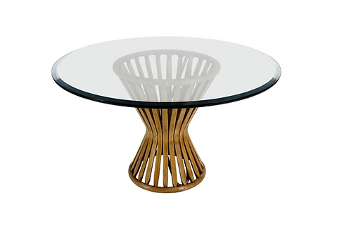 Classic Rattan Sheaf Form Lounge Table by McGuire