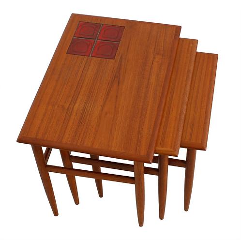 Danish Teak Nesting Tables (3)