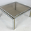 Thumbnail: Chrome and Brass Coffee Table attributed to Romeo Rega