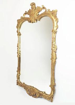 50's Rococo Gilt Mirror