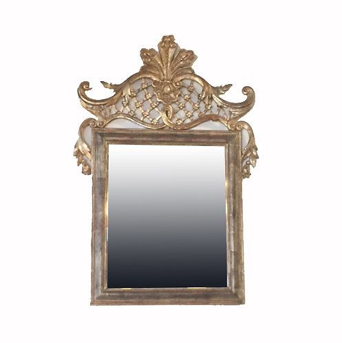 Milch and Sons Silver and Gold Gilt Mirror