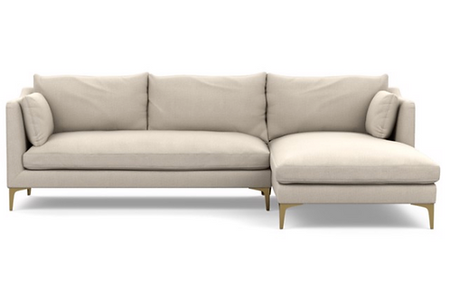 "Interior Define ""Caitlin"" Sectional with Right Chaise in Evening"