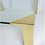 Thumbnail: Large Brass Cornered Cocktail Table