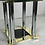Thumbnail: French 1970s Brass and Chrome Dining Table