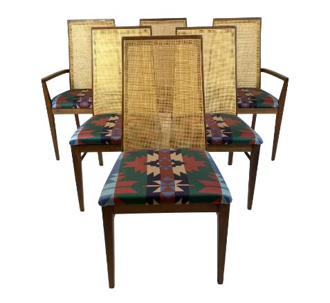 1960s Vintage Dillingham Esprit Walnut Dining Chairs- Set of 6