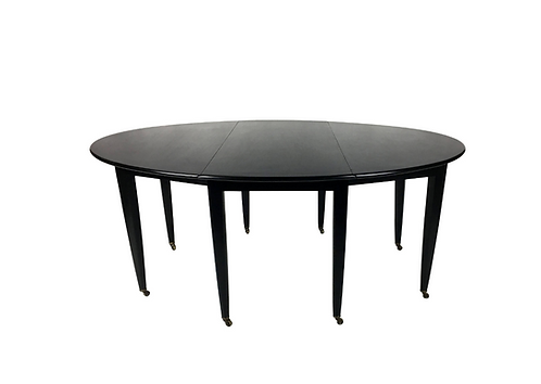 Oval Drop-Leaf Dining Table by Edward Wormley for Dunbar