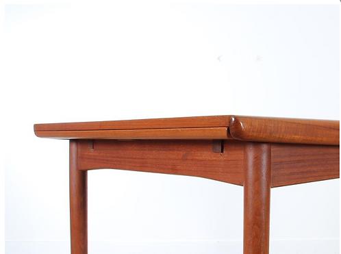 Drylund Danish Modern Teak Draw Leaf Dining Table