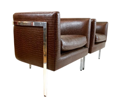 Harvey Probber Tub Chairs- A Pair