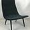 Thumbnail: Pair of Thin Line Velvet Scoop Chairs