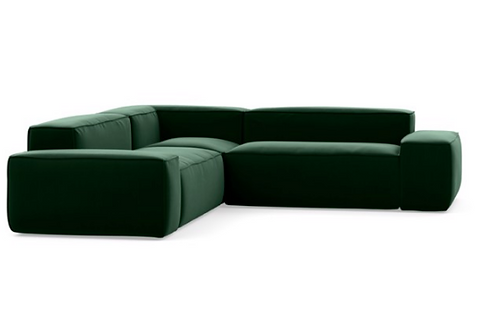 "Interior Define ""Gray"" Sectional in Emerald"