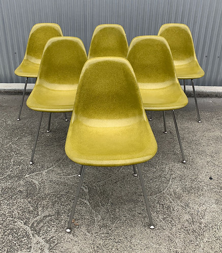 "Modernica ""Pickle"" Fiberglass Case Study Eames Chairs H Base (6)"