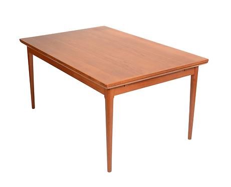 Danish Modern L&F Mobler Teak Draw Leaf Extension Table