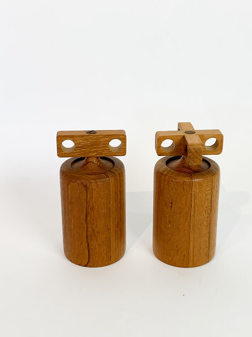 Rare Birgit Krogh Salt and Pepper Mills by Woodline Denmark
