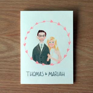 Wedding card, 2019