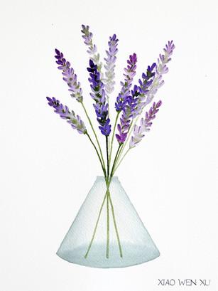 Lavender Bouquet in Vase, 2021
