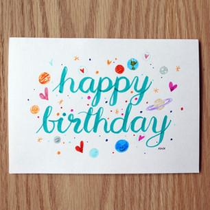 Birthday card, 2020