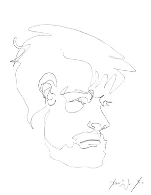 A Blind Contour Drawing of a Man III, 2013