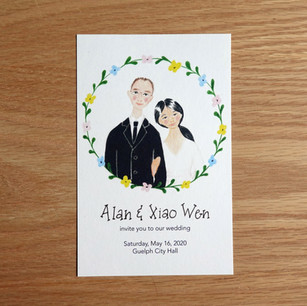 Wedding invitation, 2019
