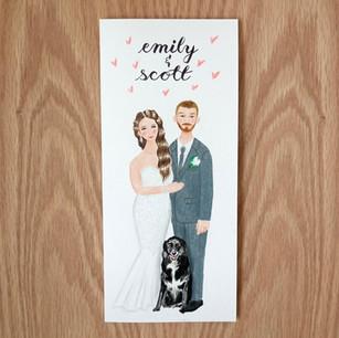Wedding card, 2020