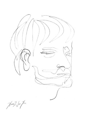A Blind Contour Drawing of a Man II, 2013.