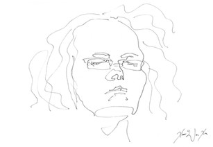 A Blind Contour Drawing of a Woman Sleeping, 2013